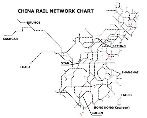Beijing Railway Map