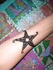 Black Glitter on Henna Sea Star Volcano Blue Henna