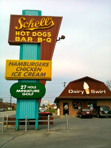 Schell's Hot Dogs BBQ Dairy Swirl Cool Signs!