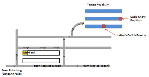 Map to Taman Royal Lily