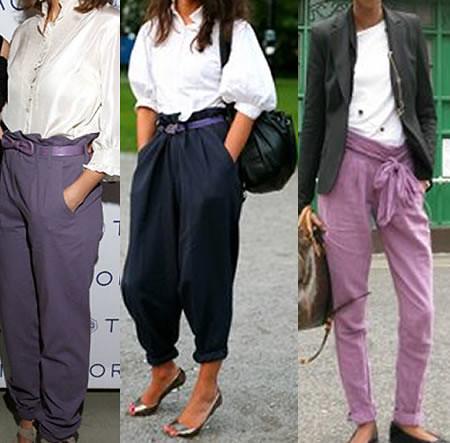 calças saruel fotos