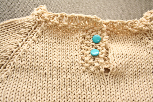 Child's Placket Neck Sweater