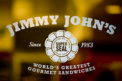 Jimmy John´s Window Sign