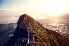 Stairway to Heaven (Jeremy Snell) Tags: morning stairs hawaii early heaven haiku oahu satellite hike stairway honolulu pali legend epic