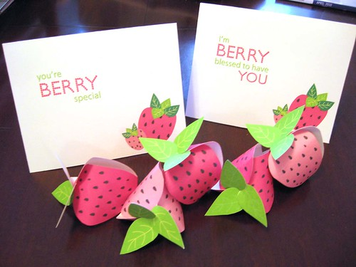 Strawberry Boxes and Cards