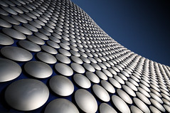 My take on the cliched Birmingham Selfridges shot (Semi-detached) Tags: city blue sky urban geometric lines architecture modern circle tile birmingham pattern geometry circles patterns centre perspective selfridges tiles distance bullring midlands molar