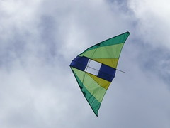 Kite Runners (phempsall) Tags: blue sky kite water clouds fly wind windy sunny recreation greenpoint lakemacquarie