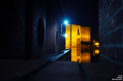 a diffrent view (noprayer4dying) Tags: longexposure blue light water yellow architecture night dark different view darkness pov perspective slowshutter canon350d government dhaka nationalassembly bangladesh louisikahn polictics neazahmedphotography mphostel