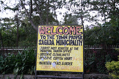 Sagada Welcome SIgn