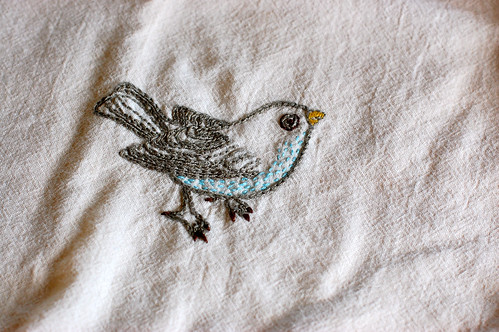 tea towell embroidery