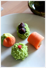 autumn nerikiri (japanese sweets) (p o n z u) Tags: japanese vegan sweets wagashi nerikiri