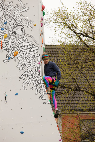 Anders climbing at Bannapark Open 2010