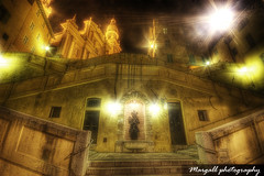 One night in Menton - HDR by Margall - (Margall photography) Tags: 3 france ex scale stairs photoshop canon photography dc 10 sigma pro marco 20 francia hdr menton mentone 30d scalinata cs3 photomatix galletto margall hsm