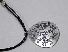 """""""Miniature Flowers"""" Silver Necklace (EfratJewelry) Tags: silver handmade jewelry jewellery sterling 925 oxidized silversmith metalsmith sterlingsilver          efratjewelry"""