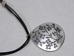 """Miniature Flowers"" Silver Necklace (EfratJewelry) Tags: silver handmade jewelry jewellery sterling 925 oxidized silversmith metalsmith sterlingsilver כסף סטרלינג תכשיטים שרשרת תליון תליונים שרשראות צורפות עיצובתכשיטים efratjewelry"