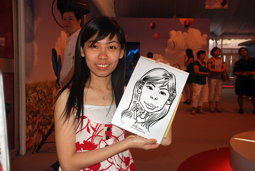 caricature live sketching for LG Infinia Roadshow - day 1 - 18