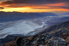 Sunset over Badwater Basin from Dante's View, Death Valley (andrew c mace) Tags: california sunset mountains nationalpark deathvalley badwaterbasin panamint deathvalleynationalpark dantesview photomatix dvnp blendedexposures nikkor1855mm colorefex nikoncapturenx nikond90