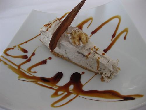 Altamira, tarta de noz e plátano