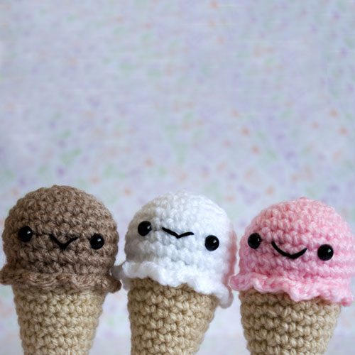 Amigurumi Kawaii Ice-Creams
