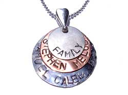 Layered family pendant
