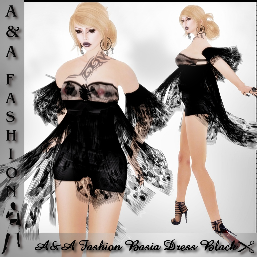 A&A Fashion Basia Dress Black