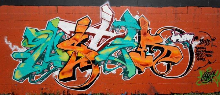 NST by HAN1 graffiti