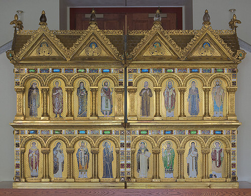Saint Meinrad Archabbey, in Saint Meinrad, Indiana, USA - Saint Joseph's Chapel, altarpiece