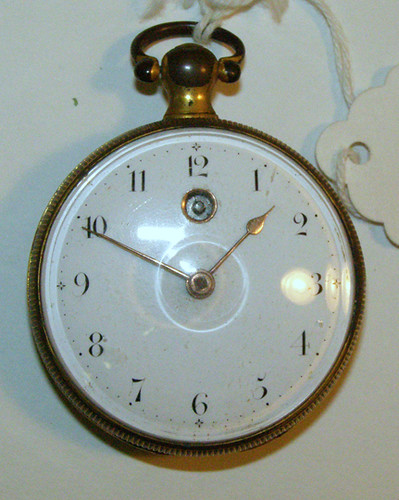Pocket watch with gilt case