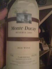 2005 Monte Ducay Cariñena Reserva