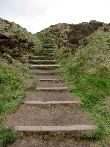 Steps leading up to McArts Fort aka Napoleons nose on the Cavehill.