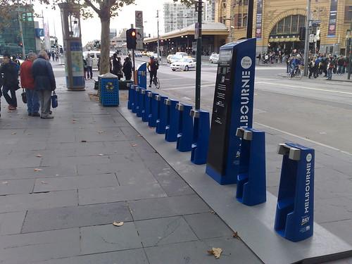 Melbourne Bike Share station, St Paul's