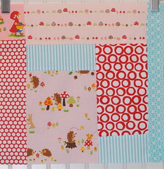 Pink, Red & Aqua with woodland animals