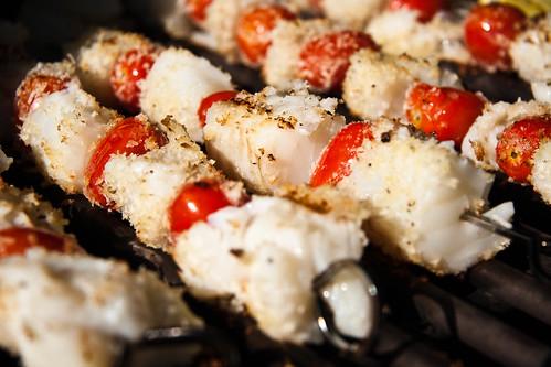 Grilled Cod-Ka-Bobs