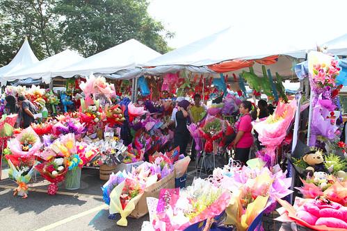 The flower stalls