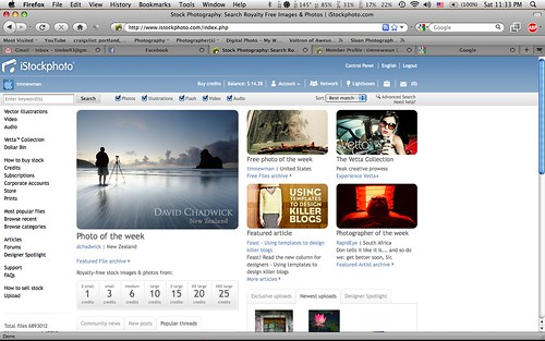 I'm on the homepage of iStock this week!