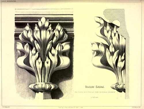014- Perfiles en roble de los remates del coro- Catedral de Winchester-Gothic ornaments.. 1848-50-)- Kellaway Colling