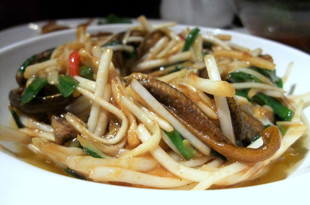 Stir-Fry Eel with Bean Sprouts