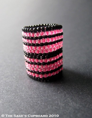 Licorice Bubblegum Ripple Ring by The Sage's Cupboard