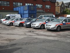 BX59BZY BTH Ford Transit Cage Van, BX09AEF BTS BMW 3 Series Area Car, BX08LKG, BV57LHF AGX, BX08LGO AWE,  BU07NCC LDQ & Unmarked Metropolitan Police Vauxhall Astra Incident Response Vehicles in the Yard of Wimbledon Police Station (Trojan631) Tags: las blue rescue west london public geotagged fire sussex mercedes coast volvo interesting brighton order traffic 4x4 south 911 police scout surrey ambulance led east explore nhs dna operations service roads met emergency incident firefighter paramedic 112 rapid metropolitan officer v50 scania 2012 2010 response armed 999 crawley evs fordfocus v70 sprinter so19 2011 constabulary policing arv rrv uvmodular wsfrs co19 secamb metpol so6 suspol esfrs trojan631