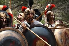 Spartan Phalanx 4, Hot Gates, Thermopylae 480 BC, Blood of a King Film Shoot (mpfilmcraft) Tags: canon greek helmet scythian spartan greeks leonidas spartans thermopylae hoplites t2i hotgates scythians bloodofakingshoot