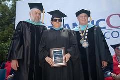 Art Wexler, vice president of academic affairs; Lisa Stein, Teaching Excellence Award recipient; Dr. Peter Mora, president of Atlantic Cape