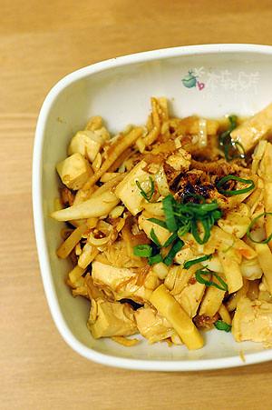XO 醬炒綠竹筍豆腐