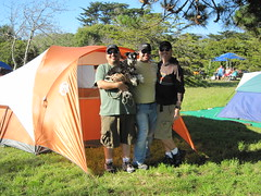 James, Truman, Sergio and Tim with our new tent. (06/05/2010)