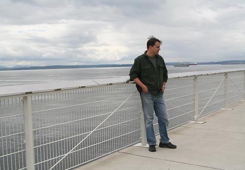 Ian on the Waterfront Near Sculpture Park