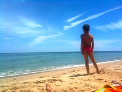 Beach Babe (Josh Clark) Tags: ocean beach kids sand nina