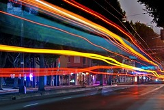 a stranger's colorful story (pbo31) Tags: sf sanfrancisco california street longexposure morning motion color bus colors northerncalifornia june night dark moving movement lowlight nikon colorful traffic stranger sidewalk story muni northbeach washingtonsquare passing d200 littleitaly curb unionstreet 2010 traffictrails columbusavenue lightstream sanfranciscocounty