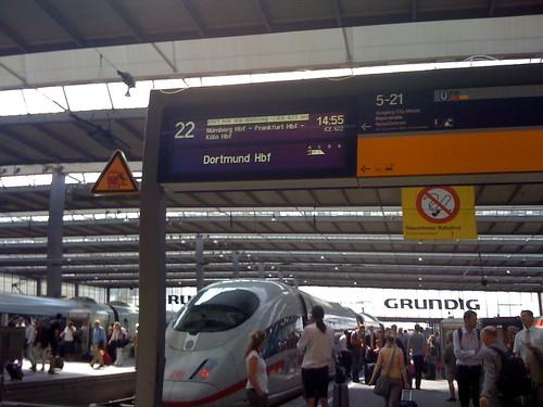 50 Minuten Verspätung am Hbf München