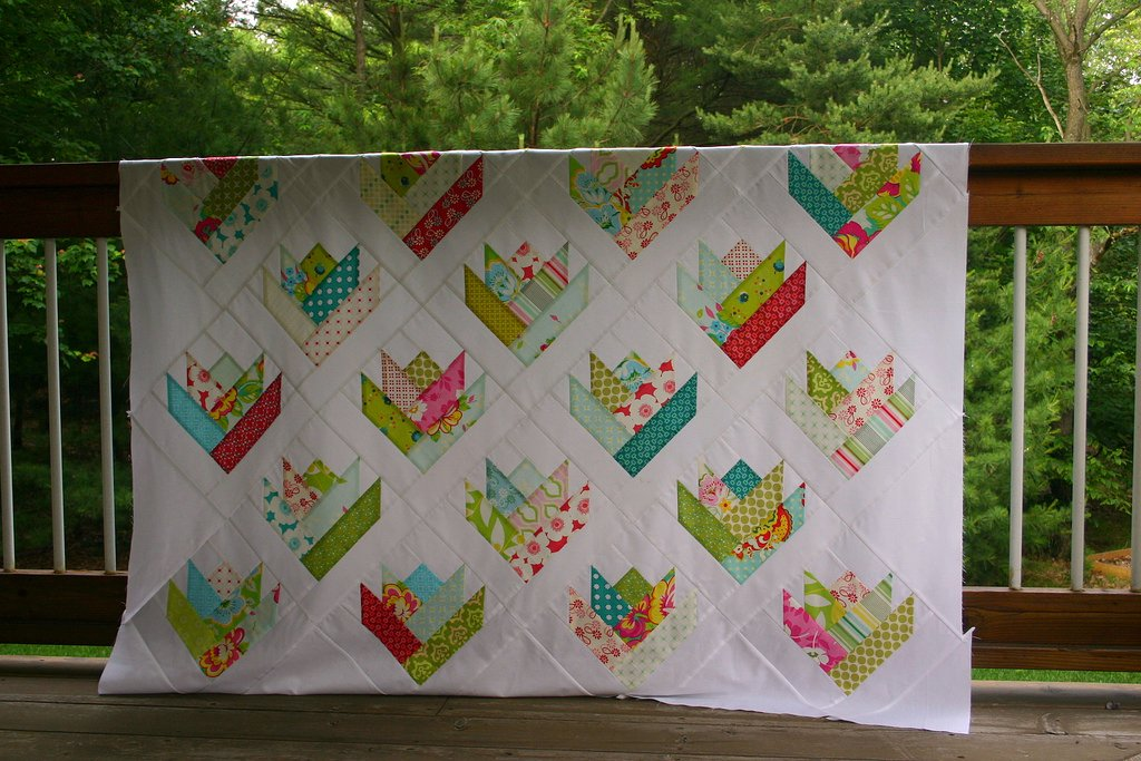 Floral Bouquet Quilt Top