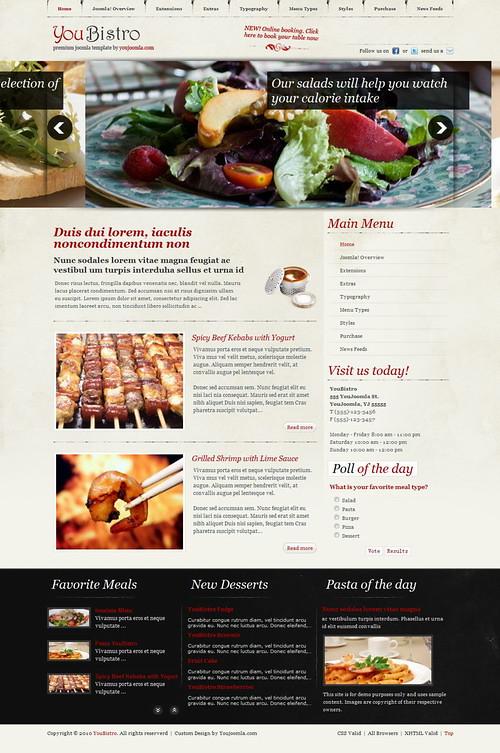YouBistro   Joomla Restaurant Template
