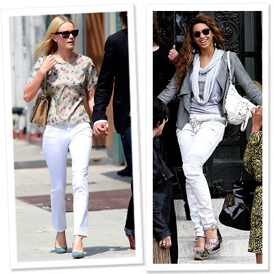 Stars Best Jeans: Look Your Best-White Jeans-Beyonce-Kate Bosworth